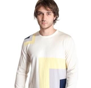 Men's sweater with figures model 121429AC3750