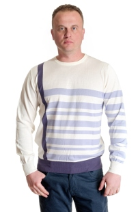 Men's sweater stripes model 1214311C3730