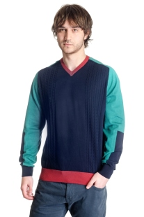V-neck sweater model 1414421V3100