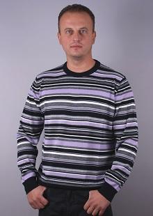 М.пуловер по врата  райе модел 1114748C3750
