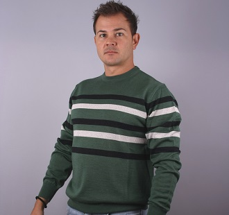 М.пуловер по врата райе модел 1114758C5730